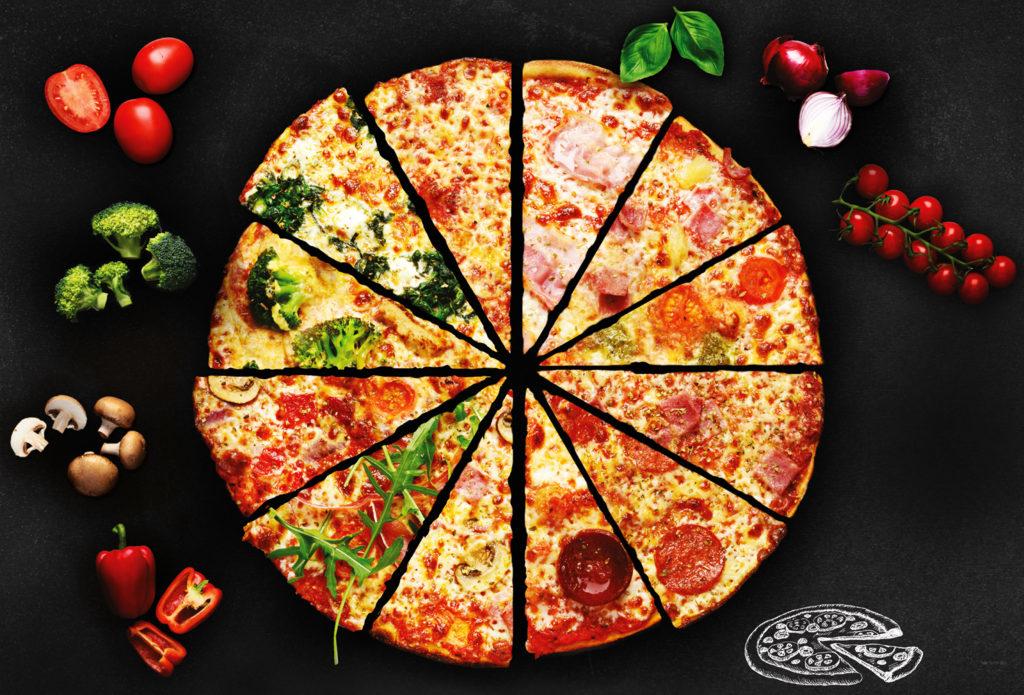 Frische, hausgemachte Pizza
